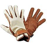 乗馬用グローブ ワッフル・レザー手袋 KE1(ベージュ) 本皮 本革 手袋 Klaus オフホワイト 牛革 乗馬用品 肌色 KE1 (XXS)