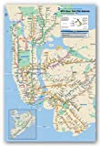 New York City Subway Map Art Print Poster