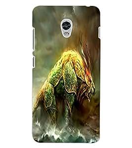 ColourCraft Fantasy Animal Design Back Case Cover for LENOVO VIBE P1