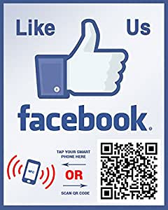 like us on facebook sticker template - like us on facebook sticker social media qr code and nfc