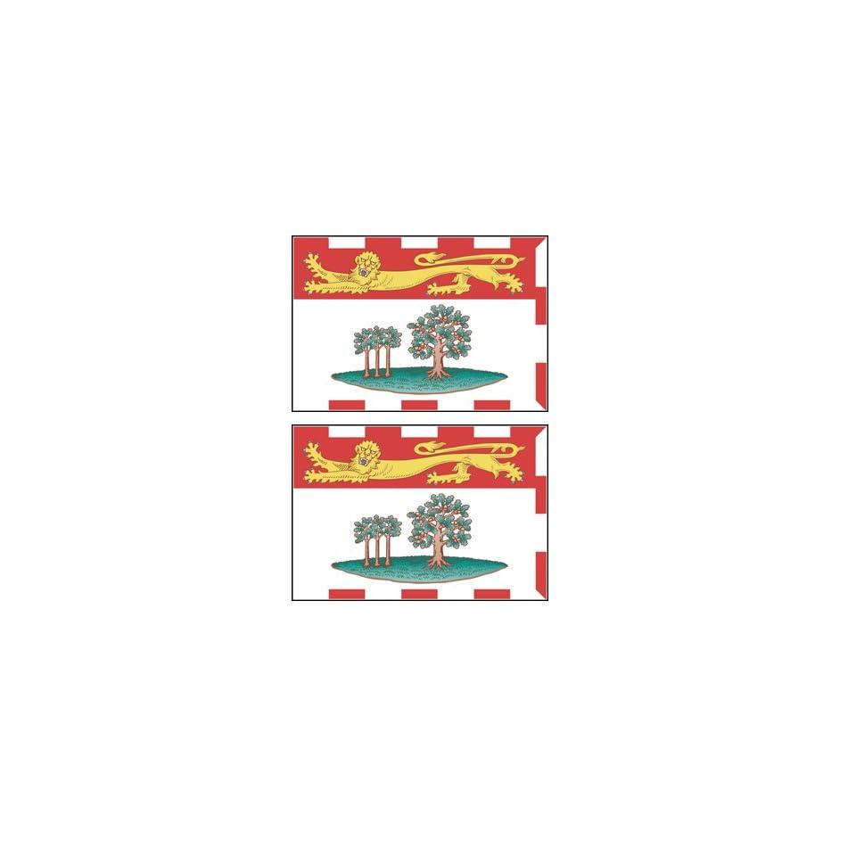 2 Prince Edward Island Flag Stickers Decal Bumper Window Laptop Phone Auto Boat Wall