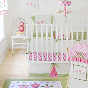 My Baby Sam 4 Piece Crib Bedding Set, Tickled Pink