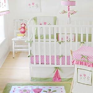 My Baby Sam 4 Piece Crib Bedding Set, Tickled Pink