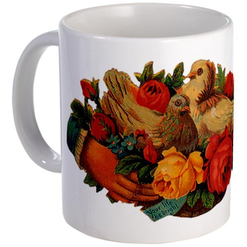 Cafepress Birds And Flowers Mug - Standard