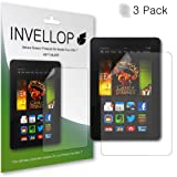 "INVELLOP ANTI-GLARE 3-pack Screen protectors for Kindle Fire HDX 7 7"" (will only fit Kindle Fire HDX 7"")"