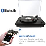 1byone-Belt-Driven-Bluetooth-Turntable-with-Built-in-Stereo-Speaker-Vintage-Style-Record-Player-Vinyl-To-MP3-Recording-Black