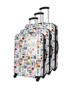 COMPAGNIE DU BAGAGE Set de 3 trolleys rígidos (Multicolor)