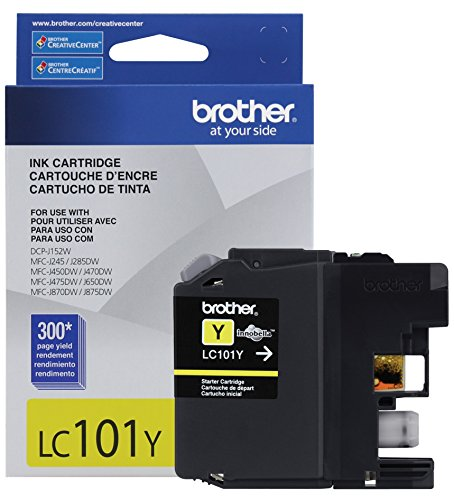 Brother Printer LC101Y Yellow Ink Cartridge Electronics