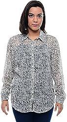 CHLOE Women's Regular Fit Shirt (CH-AM-11357P14-XL, White, XL)