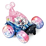 XD@-9068 Turbo Twister Radio Controlled 360° Rotation Stunt Car Flips Spins & More With Magical Flash Lights - Blue