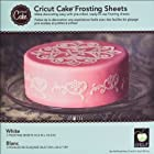 Provo Craft Cricut Cake Frosting Sheets: White