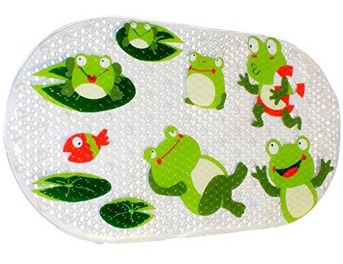 Warrah tappetino da bagno di alta qualità antiscivolo e antibatterico, resistente alla muffa, per bagno doccia, bambini e neonati, 39 x 70cm Verde
