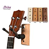 String Swing CC01UK - Ukulele / Mandolin Hardwood Wall Hanger for Home & Studio (Black Walnut Finish)
