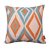 Kingla Home Square Throw Pillow Covers Cotton Linen Pillow cases 18 x 18 Inch
