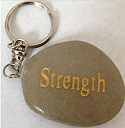 Strength Engraved Keychains With Inspirational Words - Great As Gifts