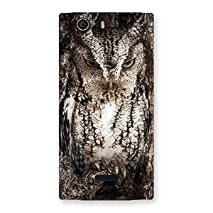 Wood Owl Back Case Cover for Canvas Nitro 2 E311
