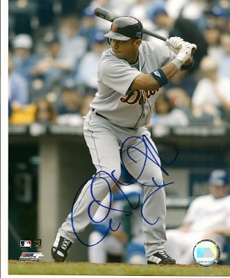 Autographed Photo Carlos Guillen Detroit Tigers