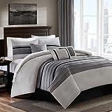Bella premium quality 400 tc cotton Designer 5 piece bedding set (grey, grey,233.68 Cm X 254 Cm)