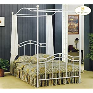 Emily Metal Twin Poster Canopy Bed - Bernie And Phyls