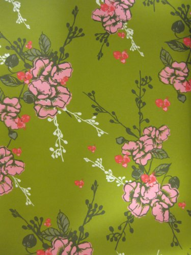 Decorative Paper - Green Floral - Soap and Paper - Gift Wrap