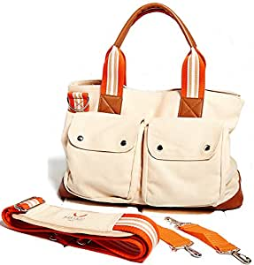 babyboo diaper bag with changing pad and stroller strap beige baby. Black Bedroom Furniture Sets. Home Design Ideas