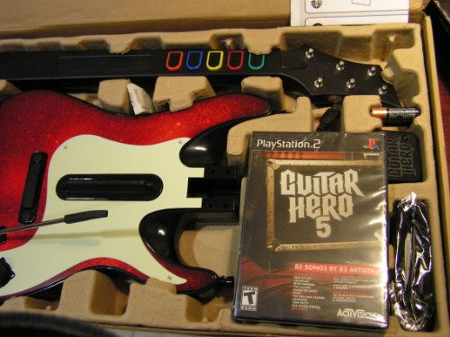 PS2 Guitar Hero 5 Guitar Bundle Amazon.com