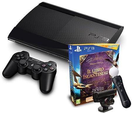 PlayStation 3 - Console 12 GB [M Chassis] + Il Libro Degli Incantesimi + Wonderbook + Move Starter Pack [Bundle]