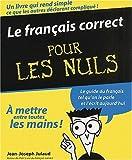 echange, troc Jean-Joseph Julaud - Le français correct pour les nuls