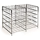 Seville Classics 10 Slot/Compartment Steel Wire Literature Rack Organizer/Mailbox