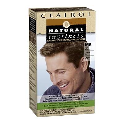 Clairol Natural Instincts Hair Color For Men M9 Light Brown 1 Kit (Pack of 3)