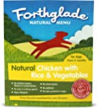 Forthglade Natural Chicken, Vegetable and Rice Menu 395 g (Pack of 18)