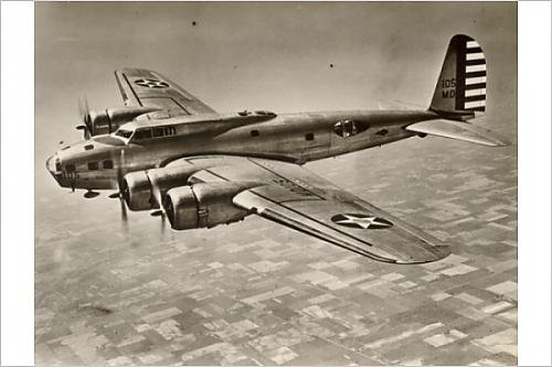 Photographic Print of Boeing B-17C Flying Fortress in flight