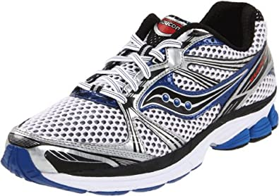Saucony Men's Progrid Guide 5 Running Shoe,White/Silver/Royal,9 XW US
