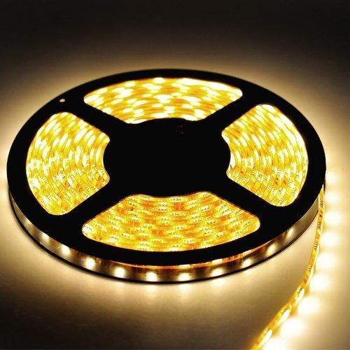 Warm White Led Strip Light, Waterproof Led Flexible Light Strip 12V With 300 Smd 5050 Led, 16.4 Ft / 5 Meter