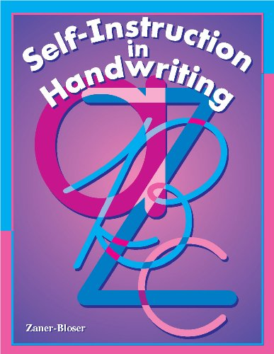 Self Instruction in Handwriting: For Students or Adults to Improve Handwriting, Zaner Blozer Staff