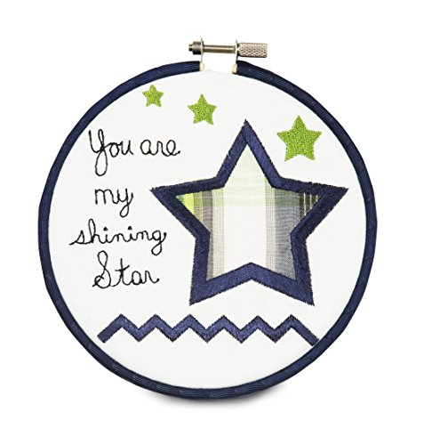 "Pavilion Gift Company 38193 Embroidered Wall Covering, 5-1/2"", You Are My Shining Star"