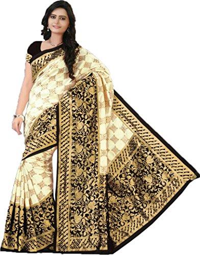 AA' Kuons Avenue Black Checks Bangalore Silk Sari