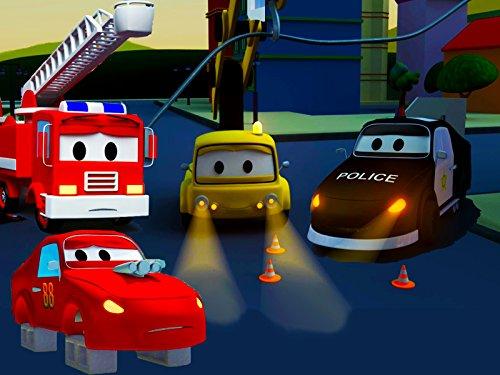 la-super-patrulla-el-apagon-los-neumaticos-robados-de-jerry-el-coche-de-carreras