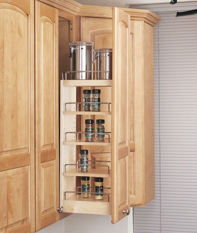 Rev-A-Shelf RS448.WC.5C 5 in. Wall Pullout Shelving System, Wood