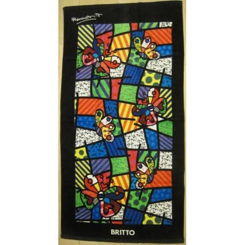 Amazon.com - Romero Britto Beach Towel- Butterfly Design -