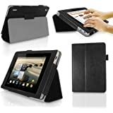 Acer Iconia A1 / A1-810 811 (7.9 inch) Multi-Angle 'Genius' Case with Stand Function and Bullet Stylus Pen by LuvTab® (Black)