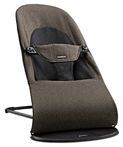BABYBJÖRN Bouncer Balance Soft (Black/Brown, Organic)