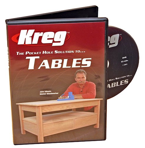 Kreg V05-DVD Pocket Hole Joinery DVD, Building Tables - Kreg - KR-DVD05 - ISBN:B0007VYL3O