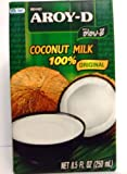 AROY-D COCONUT MILK 100% ORIGINAL NET 8.5 OZ (250 ML) (Pack of 12)