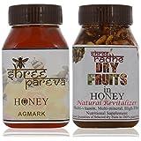 Shree Radhe Shree Pareva Honey And Dryfruit Honey - 1 Kg (Combo Of 2)