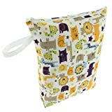 Blueberry Diaper Wet Bag, Jungle Jam
