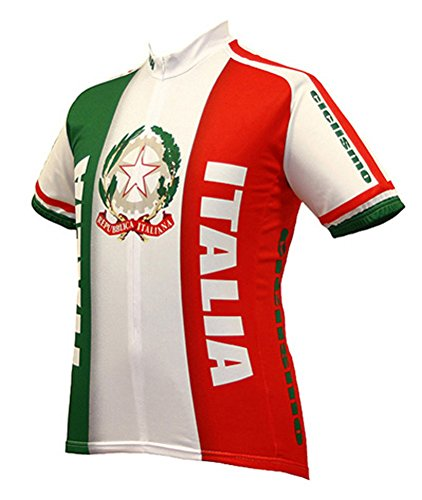 Italy Italia Cycling Jersey by World Jerseys Men's Large Short Sleeve (Cycling Italia compare prices)