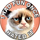 Grumpy Cat - Cat Hated It - Pinback Button 1.25""
