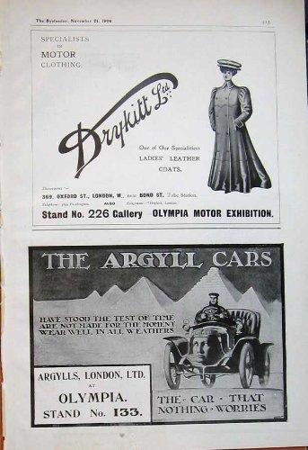 Automobili 1906 di Argyll dei Cappotti delle Signore di Drykitt Olimpia