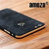 #6: iPhone 6 Cover Skin / iPhone 6S Cover Skin - amozo® Decorative Protective Film Case Cover for Apple iPhone 6 / 6S (Black)